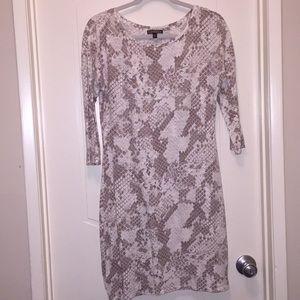 Express sheath snake skin print dress